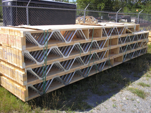 Steel web floor joists
